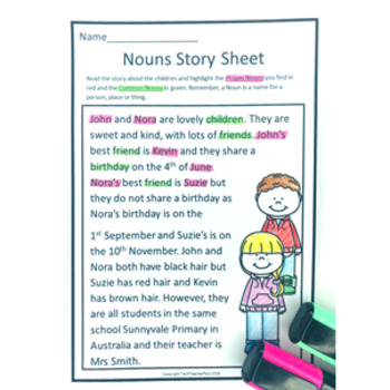 Grammar Pack Nouns Common and Proper A Review