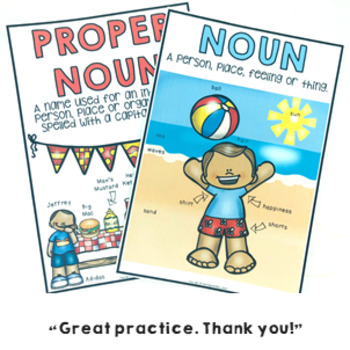 Nouns Common and Proper Grammar Pack Revision