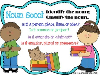 Noun Scoot - 5 different types - total of 60 cards