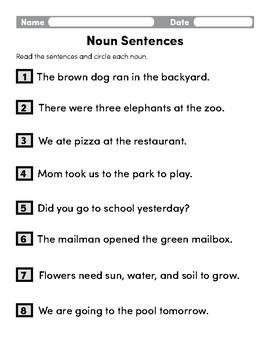 Noun Sentences
