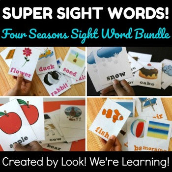 Noun Sight Word Flashcards - Super Seasonal BUNDLE!