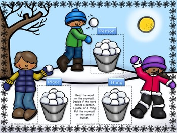 Noun Snowball Sort: Person . Place . Thing
