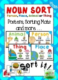 Noun Sort - Activity Pack - Animal Thing Place or Person?