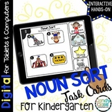 Kindergarten Noun Sort Digital Task Cards - Paperless for