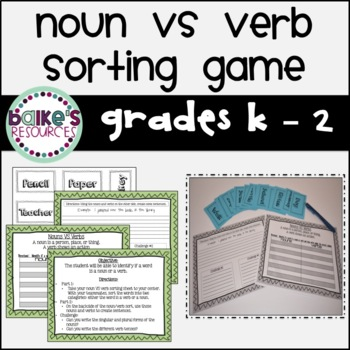 Noun Sort Game