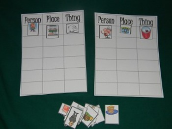 Noun Sort Literacy Center, Classroom Resource tool- Hard Good