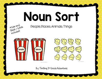 Noun Sort - People, Places, Animals, Things