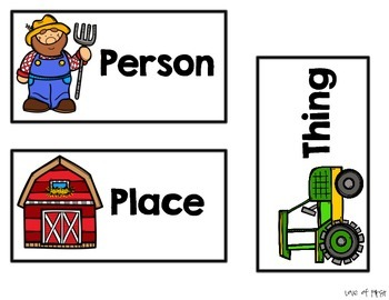 Noun Sort- Person, Place or Thing