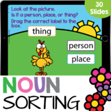 Noun Sort: Person, Place, or Thing Kindergarten Reading Go