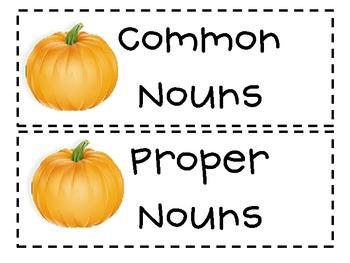 Noun Sort (Pumpkins)