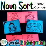 Noun Sort Activity: Kindergarten Task Cards with Anchor Charts & Grammar Games