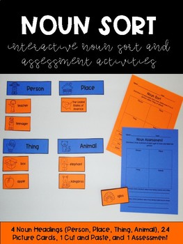 Noun Sort and Assessment