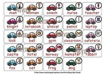 Noun Sorting Game (Person, Thing, Place, Animal)