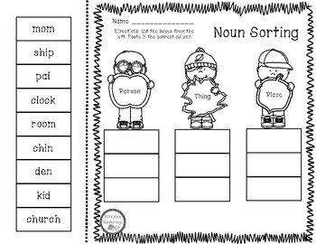 Noun Sorting - Person, Place, or Thing?