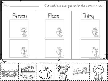 Noun Sorts: Pumpkins