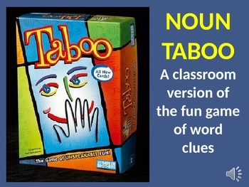 "Noun ""Taboo"" word game - review and practice nouns and synonyms"