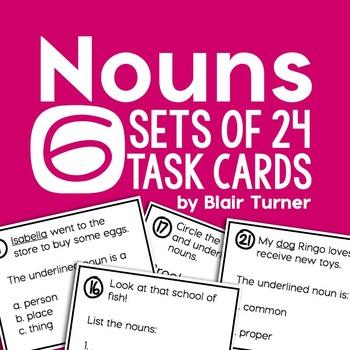Noun Task Card Pack