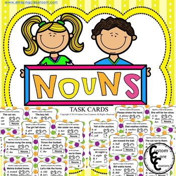 Noun Task Cards (Parts of speech)