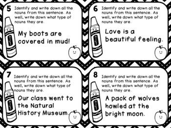 Noun Task Cards - Common Nouns, Proper Nouns, Collective Nouns