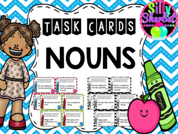 Noun Task Cards - Common Nouns, Proper Nouns, Collective Nouns