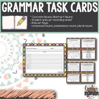 Noun Task Cards - All about Nouns!!!