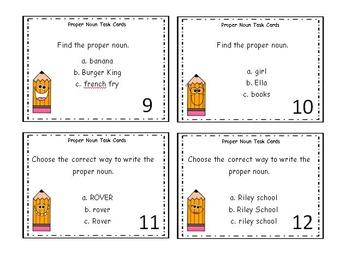Noun Task Cards BUNDLE 6 Sets of *Easy to Read* Task Cards