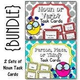 Noun Task Cards. {BUNDLE} Noun or Verb. Person, Place, or Thing