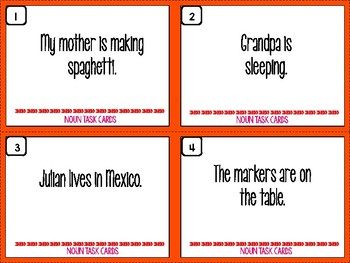 Noun Task Cards: Basic Nouns (Person, Place, Thing, Idea, Common and Proper)