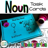 Kindergarten Noun Task Cards with Anchor Charts & Games -