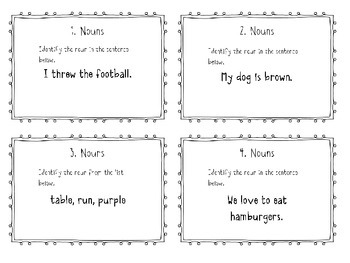 Noun Task Cards or Scoot - Common Core Aligned