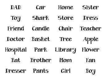 Noun Town.  Noun sorting Activity. ELA Center.  Person. Place. Thing