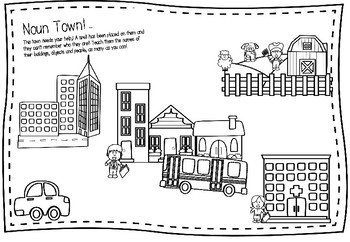 Noun Town - Search, Name, Colour and Learn!