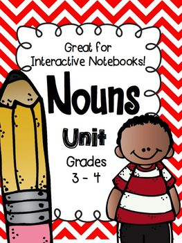 Noun Unit Folding Books, Sorts,& Worksheets can use w/ Interactive Notebooks