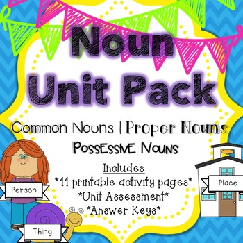 Noun Unit Pack {Common Nouns, Proper Nouns & Possessive Nouns}