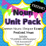 Noun Unit Pack Freebie {Common Nouns, Proper Nouns & Possessive Nouns}