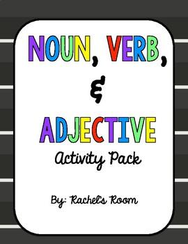 Noun, Verb, & Adjective Printable Pack