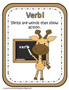Back to School Noun or Verb? Adjective or Adverb? Back to School Literacy Center