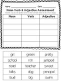 Noun Verb Adjective Assessment