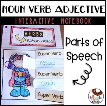Noun Verb Adjective Interactive Notebook