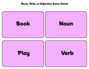 Noun, Verb, Adjective Matching Game