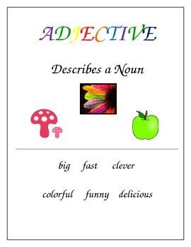 Noun, Verb, Adjective Posters