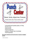Noun Verb Adjective Pronoun Punch Center Activity