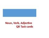 Noun, Verb, Adjective QR code task cards