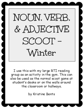 Noun, Verb, & Adjective Scoot