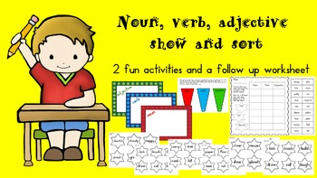 Noun, Verb, Adjective Show and Sort