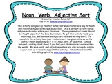 Noun, Verb, Adjective Sort