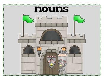 Noun, Verb Adjective Sort - Castle Theme
