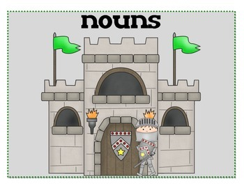 Noun, Verb Adjective Sort - Castle Theme