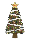 Noun, Verb, Adjective Sort - Christmas Tree.Ornaments