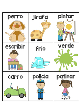 Noun, Verb, Adjective Sort Spanish- Sustantivos, Verbos, Adjetivos DI